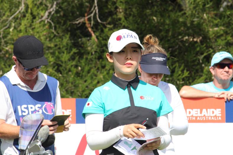 前週のISPSハンダ女子豪州OPでは畑岡奈紗に次ぐ日本人2位の34位に入り、ローアマをゲットした吉田優利。